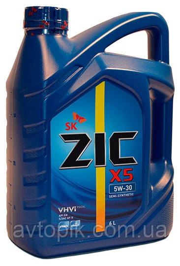 Моторное масло ZIC X5 10W-40 (6 л.)