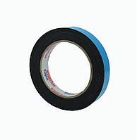 Двусторонний скотч 19мм*10м клейкая лента на вспененной основе черная