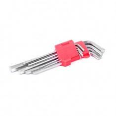 Набор Г-образных шестигранных удлиненных ключей 9 ед., 1,5-10 мм, Cr-V, 55 HRC INTERTOOL HT-0602