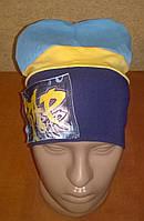 Весенний трикотажный комплект шапка+хомут, фото 1