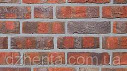 Кирпич лицевой Wasserstrich пестрый обожженный ручной формовки NF