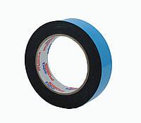 Двусторонний скотч клейкая лента на вспененной основе черная 30мм*10м