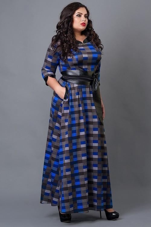 61bc45923a2 Купить Стильное длинное платье большого размера 368760173 - Грация ...