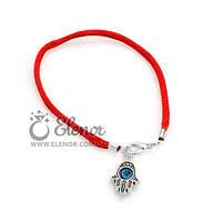 Женский браслет 0593 красная нить Хамса ладошка