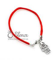 Женский браслет 0596 красная нить Хамса ладошка