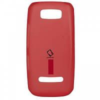 Накладка для Nokia 305/306 Asha силикон красный