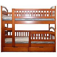 """Двухъярусная кровать из массива ольхи """"Дерби"""""""
