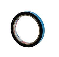 Двусторонний скотч  12мм х 2м клейкая лента на вспененной основе черная