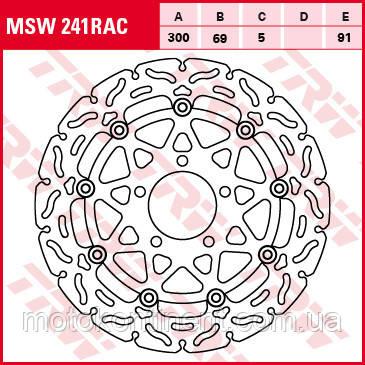 Тормозной диск передний для мотоцикла SUZUKI  TRW / LUCAS MSW241RAC, фото 2