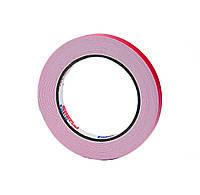 Двусторонний скотч клейкая лента на вспененной основе белая 12мм*5м