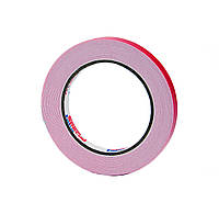 Двусторонний скотч 12мм*5м  клейкая лента на вспененной основе белая