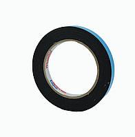 Двусторонний скотч клейкая лента на вспененной основе черная 12мм*5м