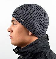 Чоловіча в'язана шапка Nord на флісі