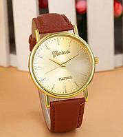 Часы женские Женева коричневые