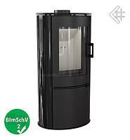 Стальная печь-камин Kratki Koza AB/S/K с черными кафельными панелями