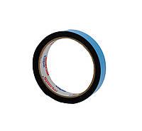 Двусторонний скотч клейкая лента на вспененной основе черная 19мм*2м