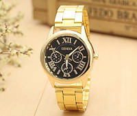 Золотые женские наручные часы Geneva черные