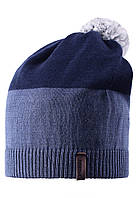 Зимняя шапка с помпоном для мальчика Reima 528497-6760. Размер  54-56. , фото 1