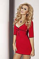 Ночная женская сорочка из вискозы Magnolia TM Dkaren (Польша) Цвет красный