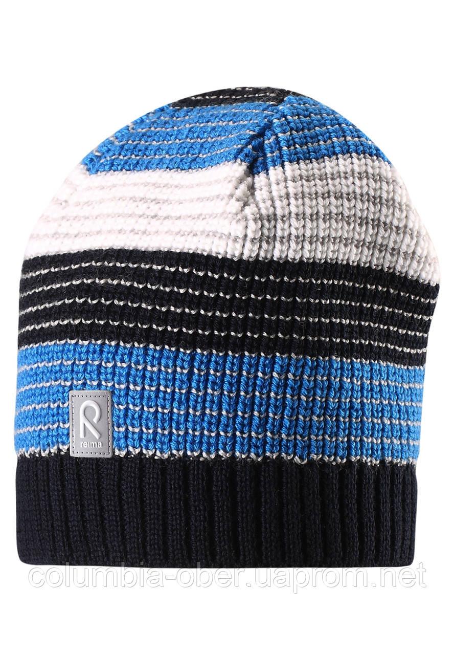 Зимняя шерстяная шапка для мальчика Reima 528498-6980. Размер  50-56.