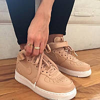 "Кроссовки Nike Air Force High ""Beige/White"""