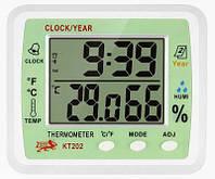 Термометр-гигрометр комнатный TS KT 202 (изм. температуру и влажность, часы)     .   dr