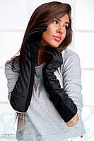 Перчатки выше локтя. Цвет черный.