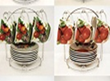 Набор чайный на подставке 12 пр. с фруктами