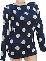 Стильный женский свитер в горох (в расцветках 44-46)