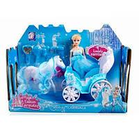 Карета 689-2A с лошадкой и куклой