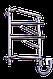 Полотенцесушитель Элна-6 поворотный нержавейка, фото 3