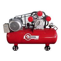 Компрессор трехпоршневой с ременным приводом 11 кВт, ресивер 300 л, 1600 л/мин, 8 Атм, 380 В Intertool