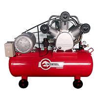 Компрессор трехпоршневой с ременным приводом 15 кВт, ресивер 300 л, 2000 л/мин, 8 Атм, 380 В Intertool