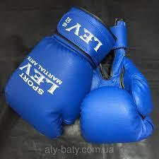 Боксерские перчатки Лев  кожвинил 10oz.