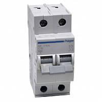 Автоматический выключатель нагрузки Hager MC206A Iн = 6 А 2п характеристика С