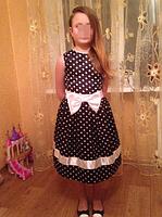 Детское платье в горох на рост от 90см до 122см, фото 5