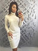 Теплое платье водолазка из ангоры