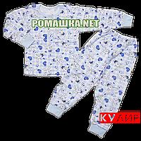 Детская пижама  тонкая р. 116 ткань КУЛИР 100% тонкий хлопок ТМ Авекс 3185 Голубой