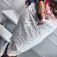 Женская шикарная белая юбка из кружева