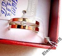 Кольцо серебро 925 пробы + золото 375 пробы с цирконом