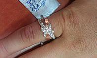 Кольцо из серебра 925 пробы с золотом 375 пробы