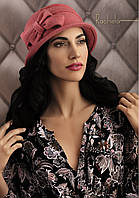 Красивая женская шляпка с бантом RACHELA черная, горчичная