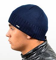 !Мужская вязаная шапка Nord на флисе, фото 1