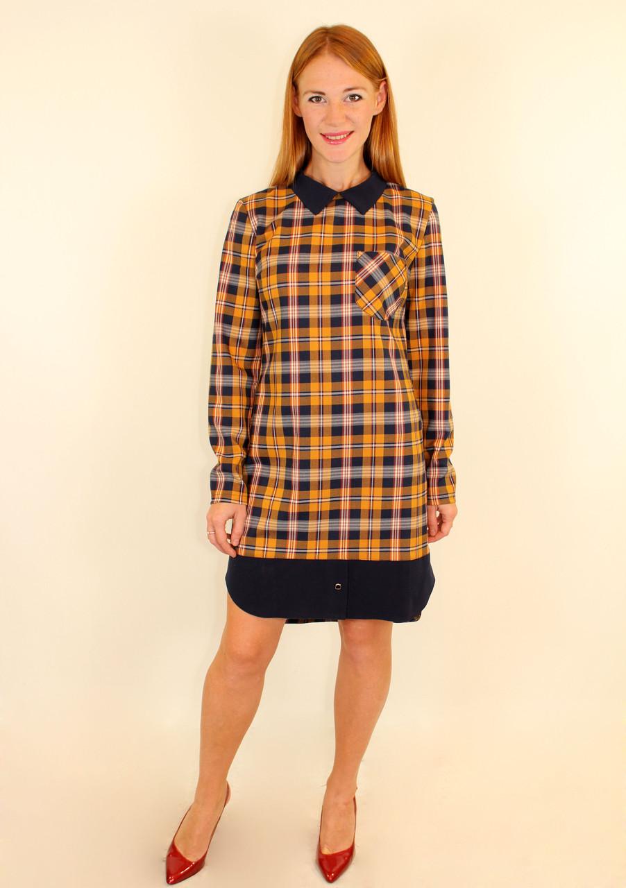 Стильное платье рубашка 44-50 р ( разные цвета )