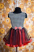 Нарядное платье -  морячка от 1 до 10 лет