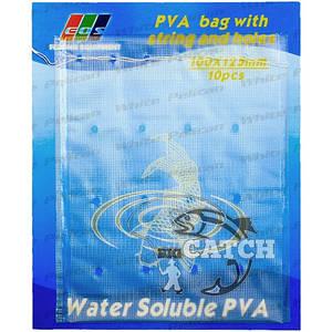ПВА пакеты для рыбалки Eos с ниткой и дырочками, 100x125мм, 10шт.