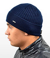 Мужская вязаная шапка Nord на флисе, фото 1
