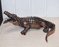 Статуэтка Крокодил с медным покрытием. Охранный талисман для дома