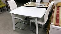 Обеденный стол для маленькой кухни Джаз Модуль Люкс, белый