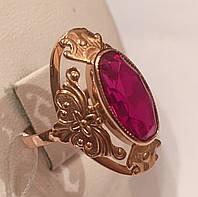 Кольцо золотое с рубином,583 проба СССР